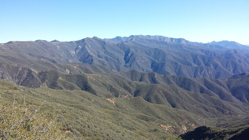 The Topatopa Mountains and Gridley Trail below.