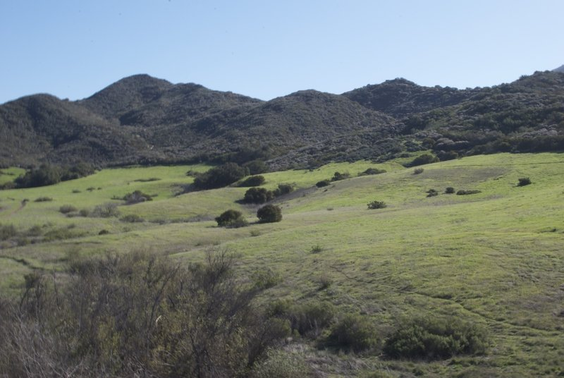 Rolling hills surrounding Ranco Sierra Vista/Satwiwa.