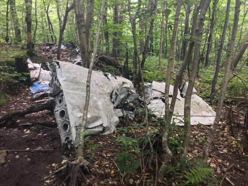 Crash site of a small plane