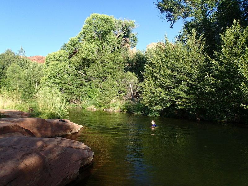 Swimming hole on Oak Creek