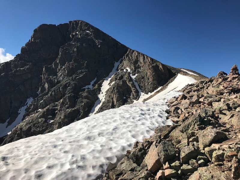 Looking up the ridge at Holy Cross