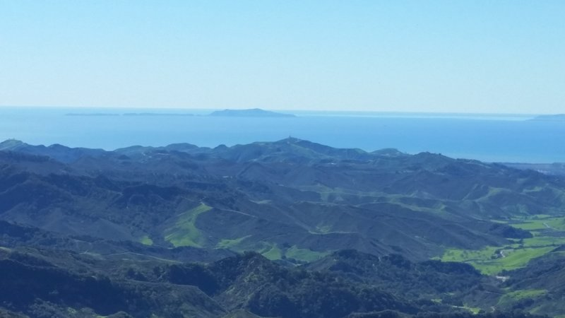 The wide-open view from Sulfur Mountain Road Recreational Trail toward the Channel Islands.