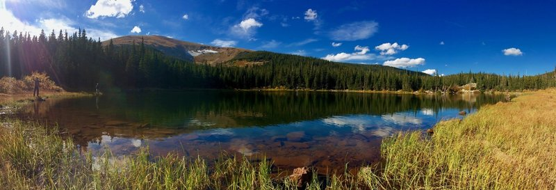 Anglers testing out Rainbow Lakes on a beautiful fall day.