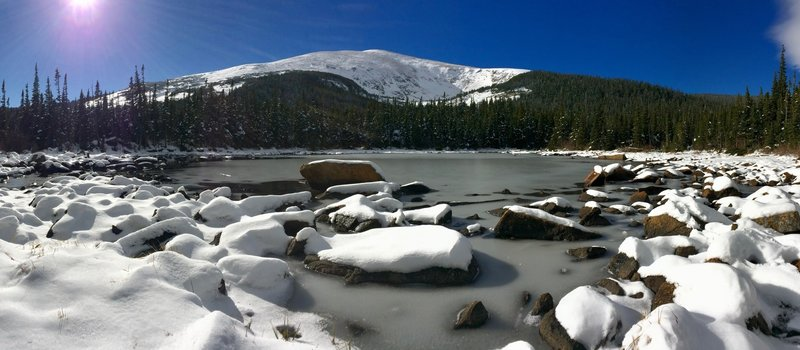 Rainbow Lakes after an early winter storm.