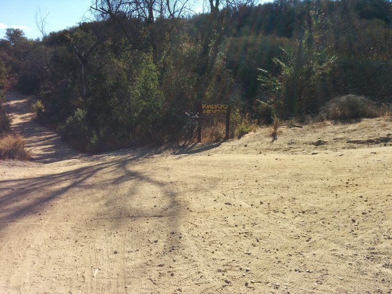 The intersection of Los Robles East, Los Robles West, and Spring Canyon Trail.
