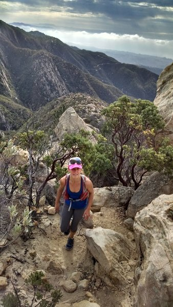 Climbing the Dragons Back toward Arlington Peak