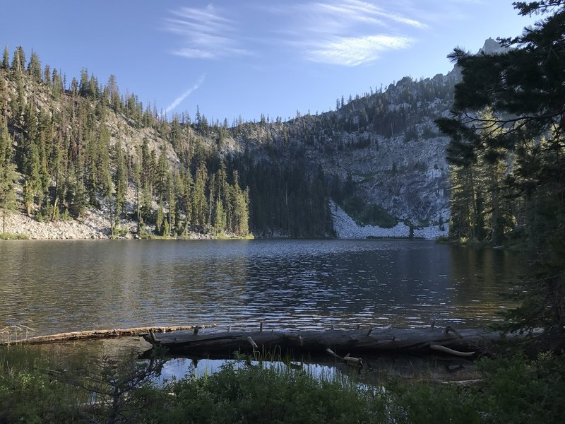 Paynes Lake off Pacific Crest Trail in Russian Wilderness.