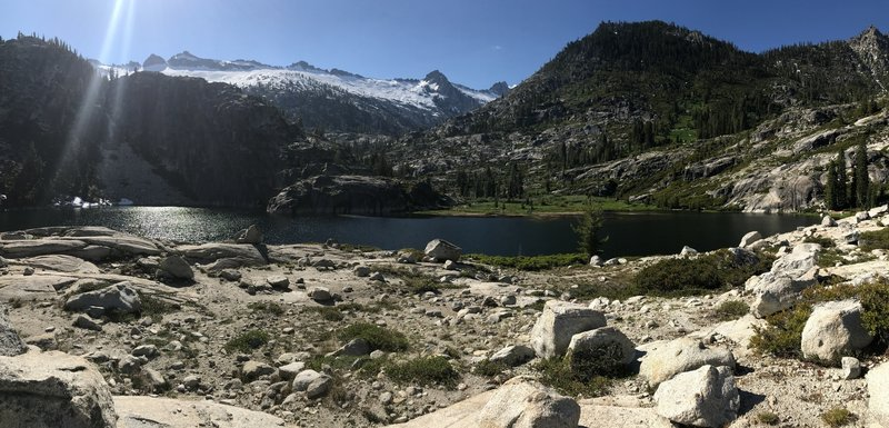 Upper Canyon Creek Lake in Trinity Alps Wilderness.