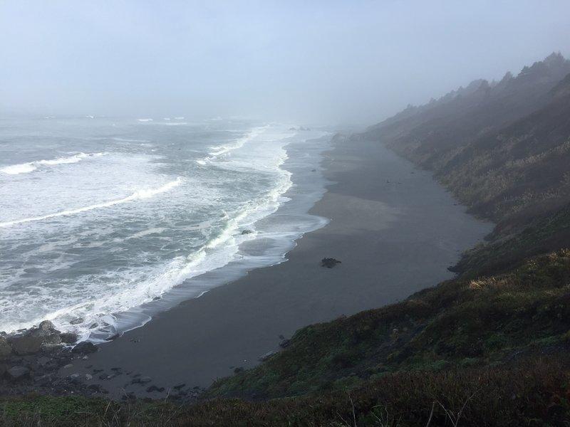 View toward Stone Lagoon Beach from Sharp Point Trail.