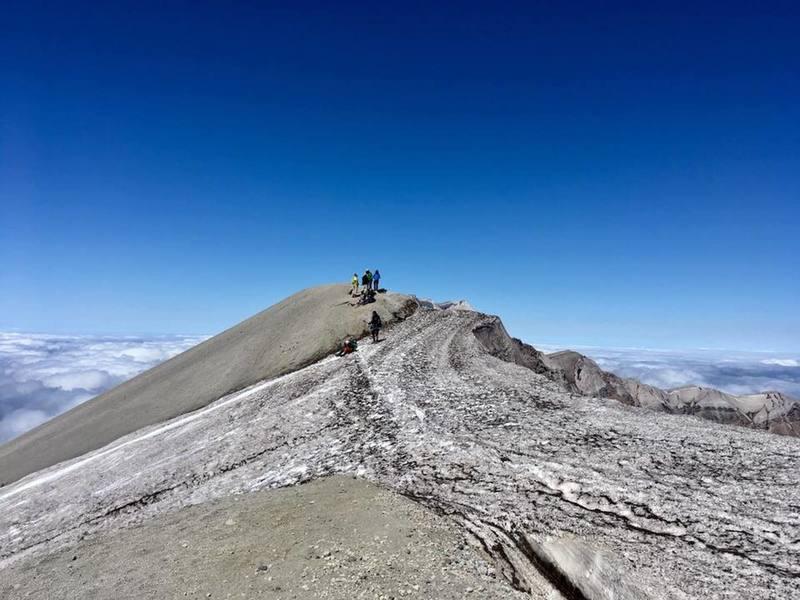 Summit of Mt St Helens