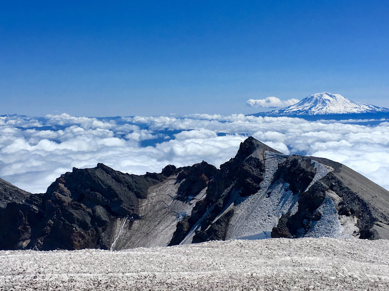 Summit of Mt St Helens, Washington