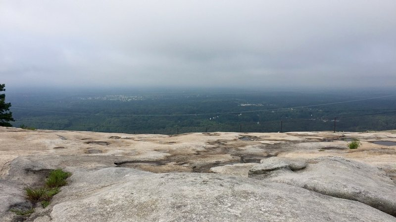 Top of Stone Mountain, overlooking downtown Atlanta