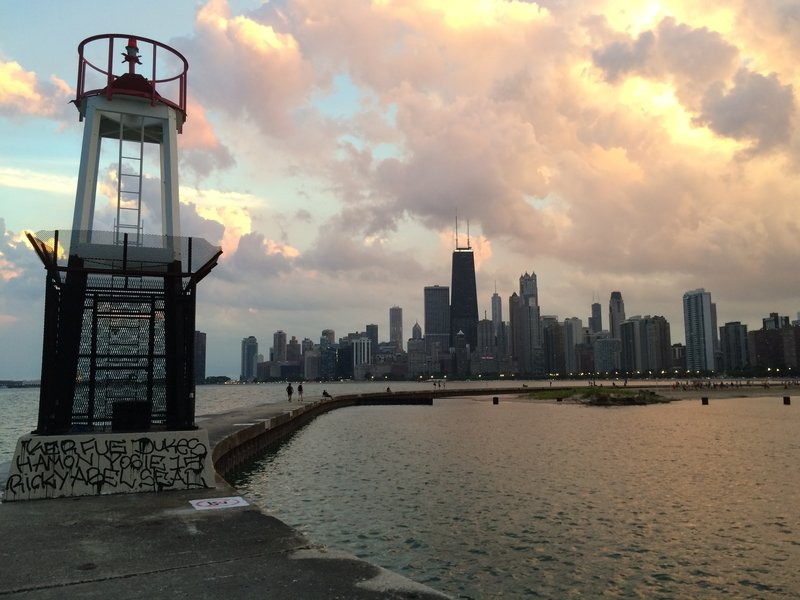 Wandering off the trail at North Avenue Beach yields these incredible views of the Chicago Skyline