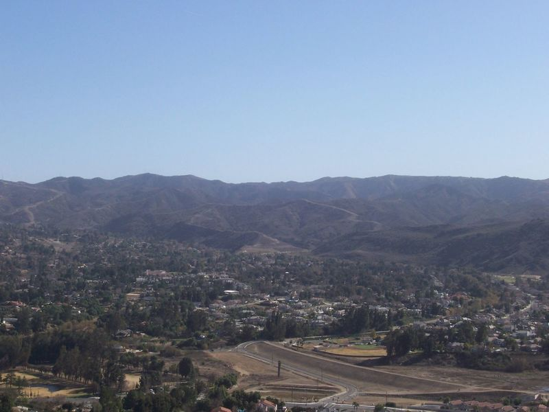 View of Simi Valley from Mt McCoy