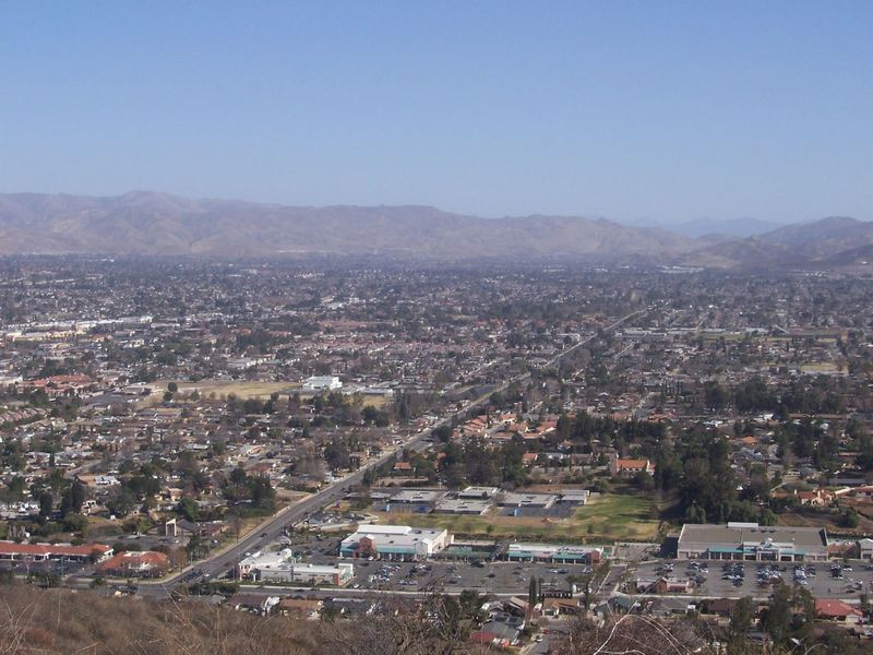 View of Simi Valley from Mt. McCoy