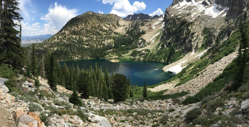 View of Alpine lake on our way up to Sawtooth lake