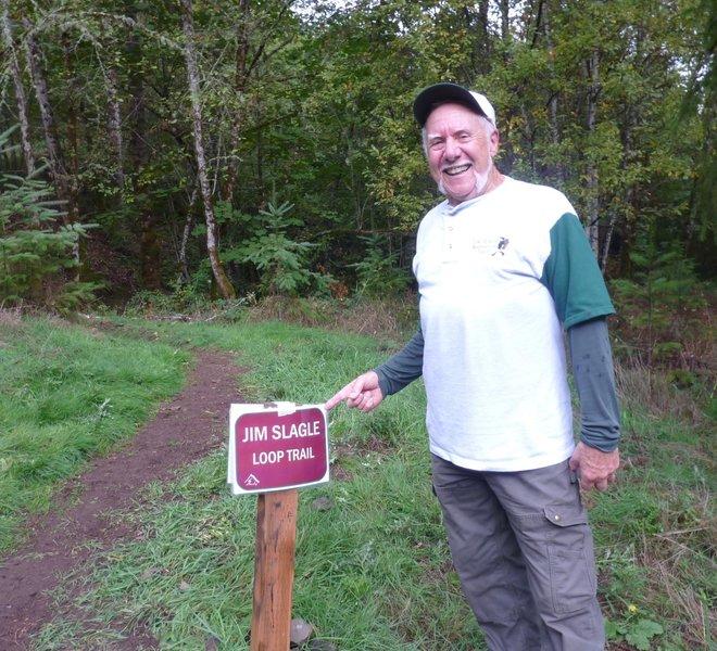 Jim Slagle - the trail's designer, namesake and resident of Sandy.