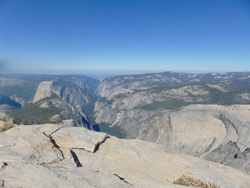 Cloud's Rest summit with a view of Yosemite Valley. Taken from the spine.