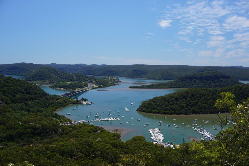 Looking north to Brooklyn and the Hawkesbury River.