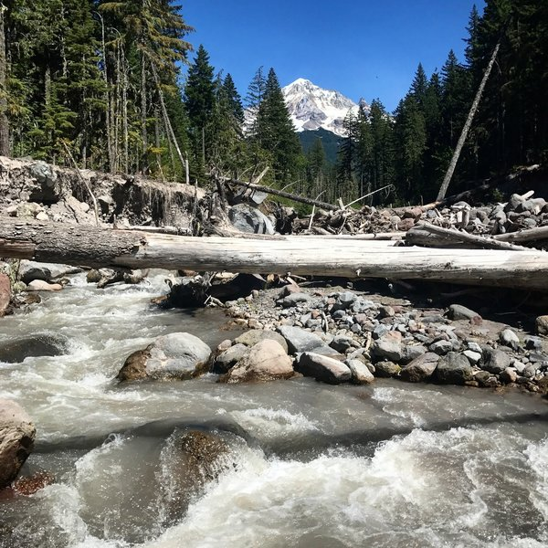 Sandy River, Oregon. Mt Hood National Forest. Ramona Falls Trail.