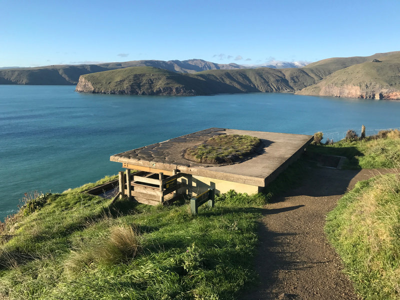Abandoned WWII Gun Emplacement on Godley Head overlooking entrance to Lyttelton Harbour
