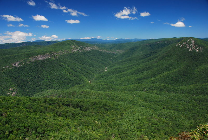 Linville Gorge Wilderness Area as seen from the peak of Table Rock Mountain.