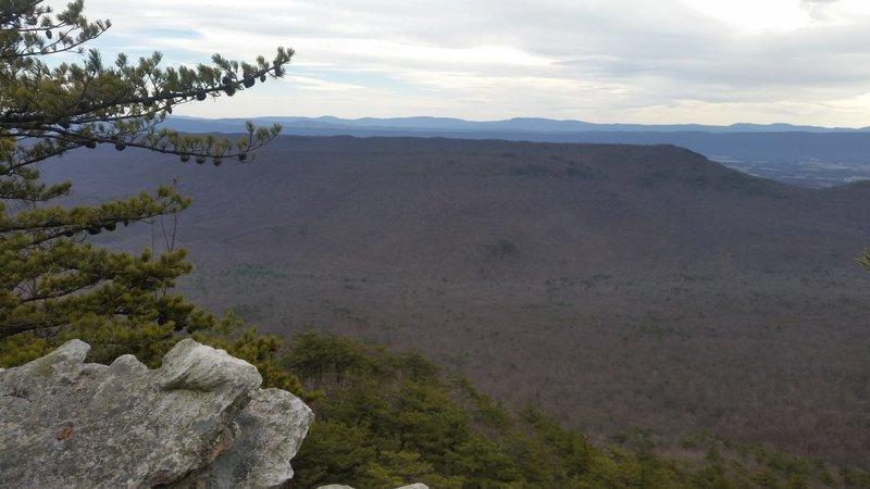 Looking off Little Sluice Mountain towards Little North Mountain and the views beyond.