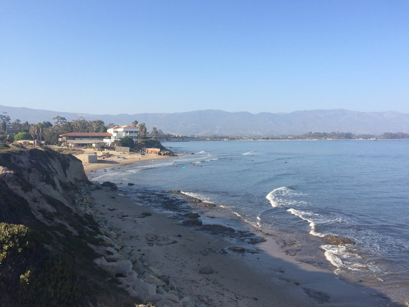 View down-coast from the Campus Point Trail.