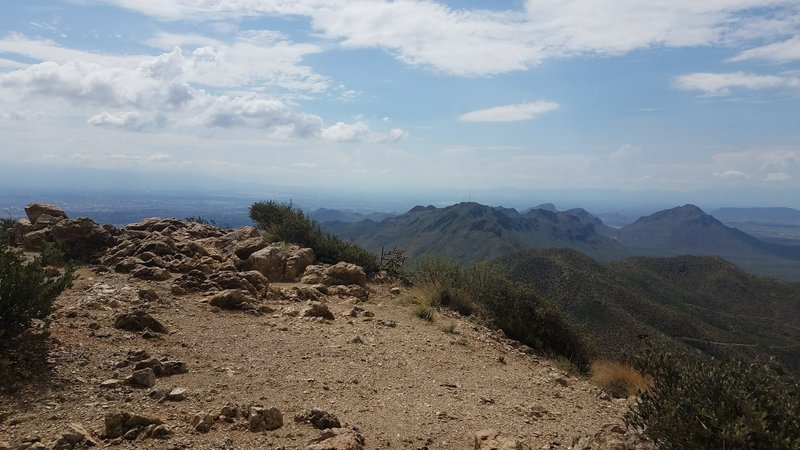 Looking west from Wasson Peak.