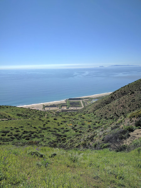 View of the coast from the Chumash Trail.