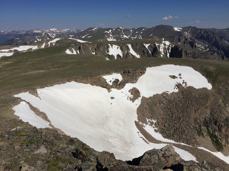 Tyndall Glacier from Hallett Peak