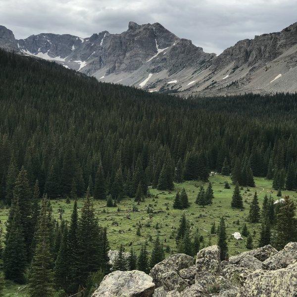 Looking west into Indian Peaks Wilderness