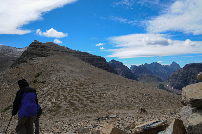 It can get rather windy up on Dawson Pass.