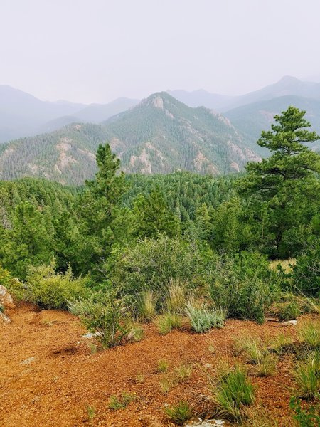 View of Mount Cutler from Penrose Trail (#665) aka Lower Captain Jack's Trail.