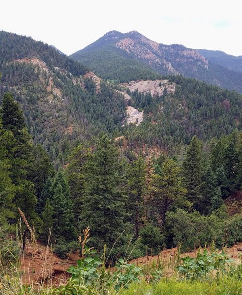 View of Helen Hunt Falls from Gold Camp Rd.