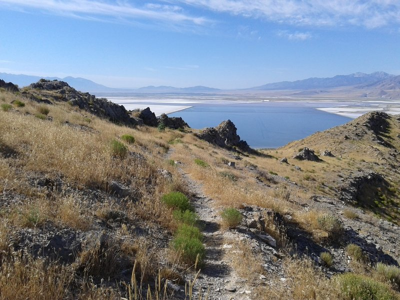 View to Great Salt Lake from Stansbury Island Trail