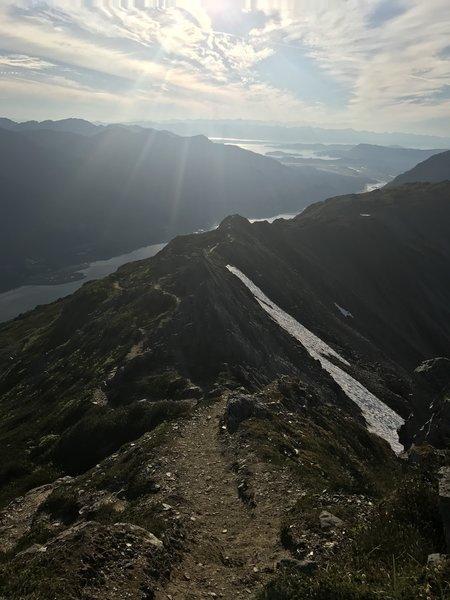 Very enjoyable views while on this ridge.
