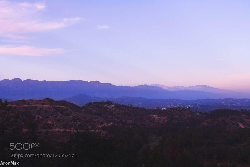 Shades of Purple: Griffith Observatory landscape