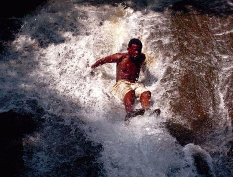 50' natural water slide