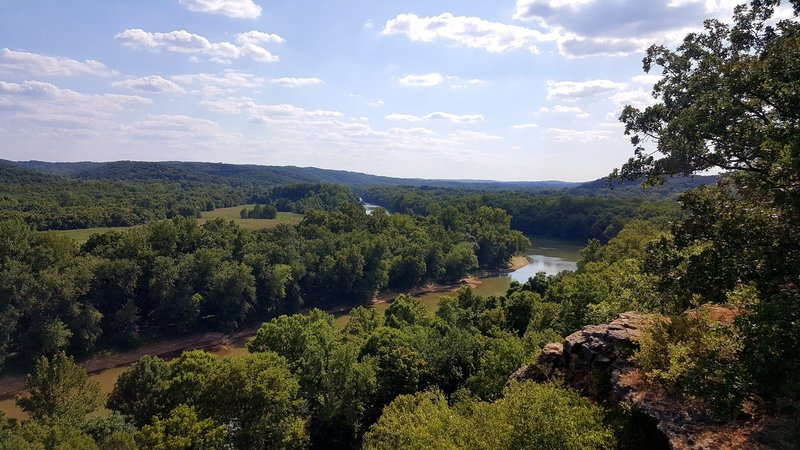 One of the first views one the trail, overlooking the Meramec River.