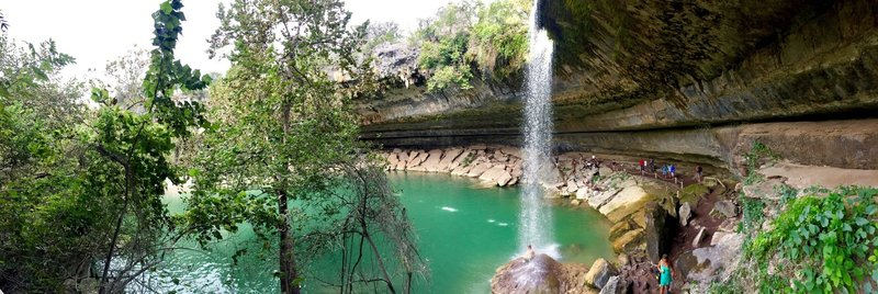 Hamilton Pool... Feb 2017 (or maybe it was back in October 2016)...always a fun spot to hang out for the day... kids love it.