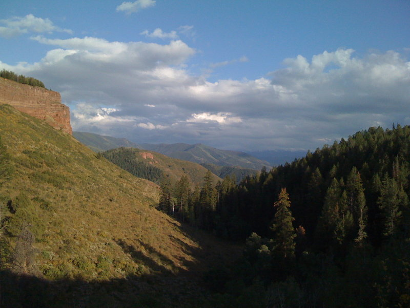 Looking southeast into the Red Canyon drainage.