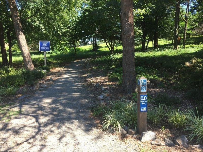 Trailhead for Murray Run.