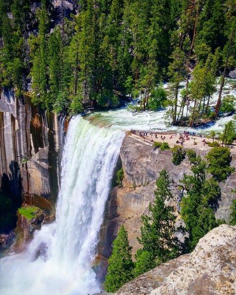 Vernal Falls in Yosemite National Park.