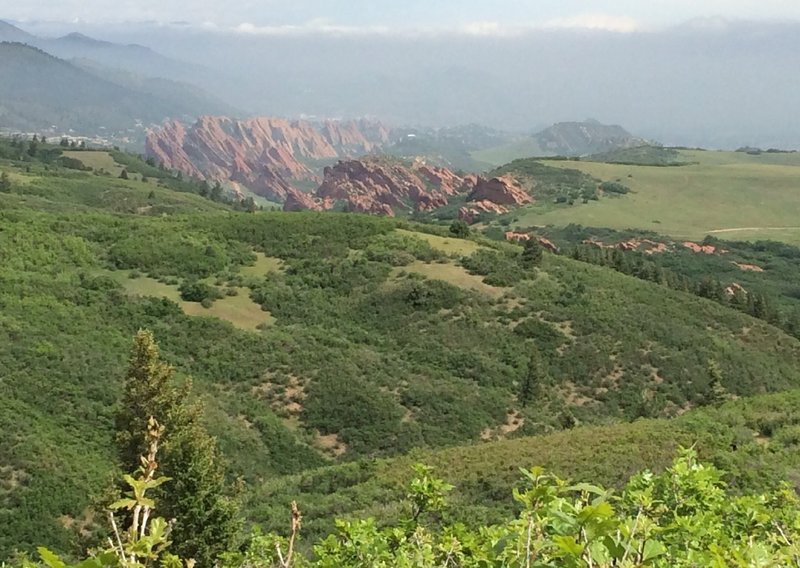 Looking down at Roxborough State Park.