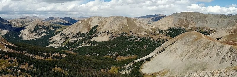 Shown in the pic, left to right: Alpine Tunnel, Williams Pass, Hancock Pass, Tomichi Pass.