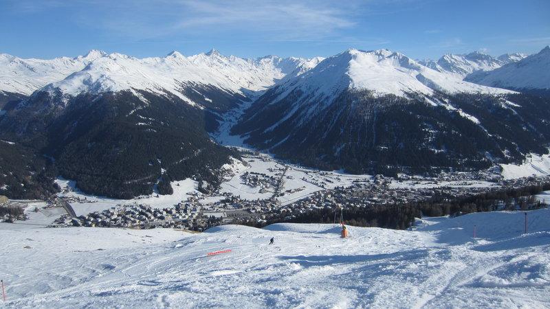 View over Davos from Parsenn ski area