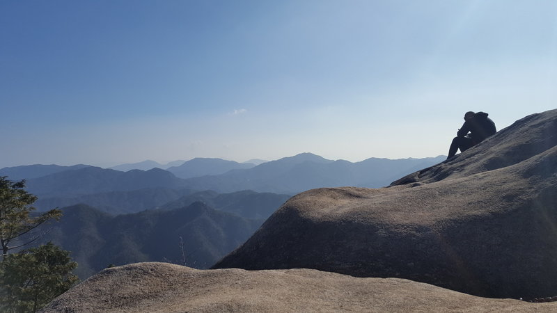 View from the middle peak