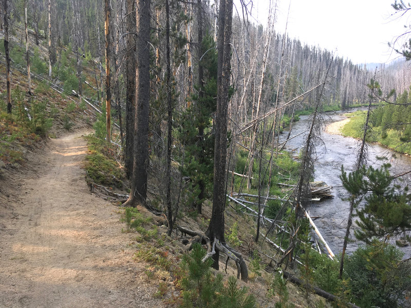 The Secech River Trail parallels the river for long scenic run.