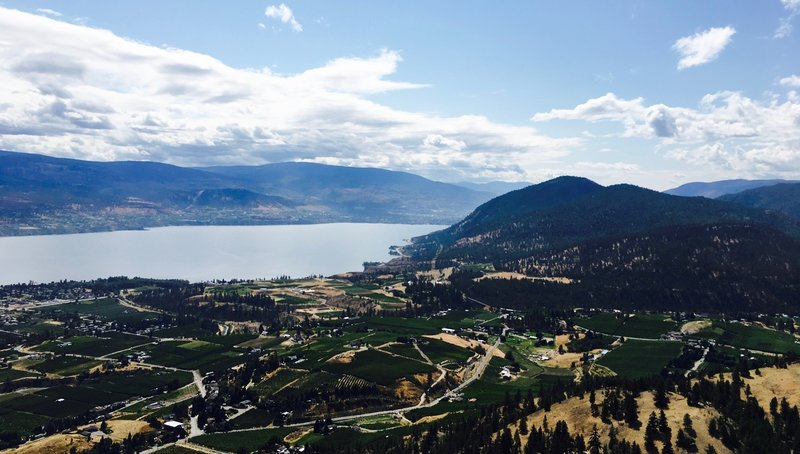 Lake Okanagan as seen from the summit of Giant's Head Mountain.
